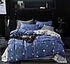 """Семейное постельное бельё с простыней на резинке (13942) хлопок """"Ранфорс"""""""