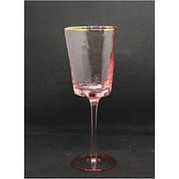 Бокал для вина Розовый трайангел 350 мл TR001-2