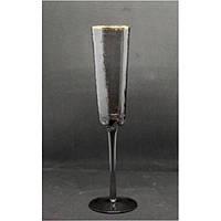 Бокал для шампанского Смоук трайангел 150 мл TR002-3