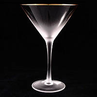 "Бокал мартини ""Голд Рим"" 250мл  AT10424"