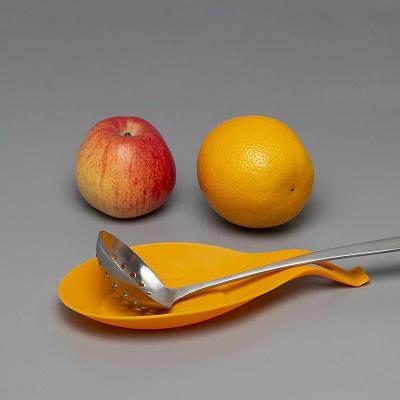 Силиконовая подставка под ложку, оранжевый