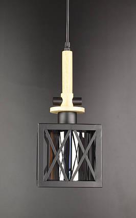 Люстра стельова підвісна у стилі LOFT (лофт) 12302/1-gr Чорний 40х16х16 див., фото 2