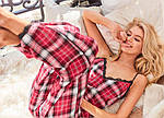 Женские домашние штаны Victoria's Secret art448702 (Красный, размер L), фото 4