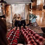 Женские домашние штаны Victoria's Secret art448702 (Красный, размер L), фото 5