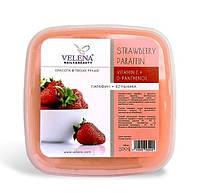 Парафин с ароматом Клубники и маслом Виноградной косточки, витамином Е, Д-пантенолом VELENA 450 г