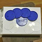 Заготовка для значков круглой формы. Цвет синий. Диаметр фото 50 мм, фото 2