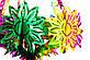 Новогоднее украшение - люстра звезда, D45 см, H80 см, разноцветный, ПВХ (610334), фото 2