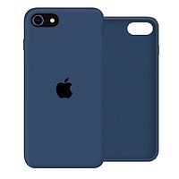 Чехол Silicone Case Full для iPhone SE2 /SE 2020 blue