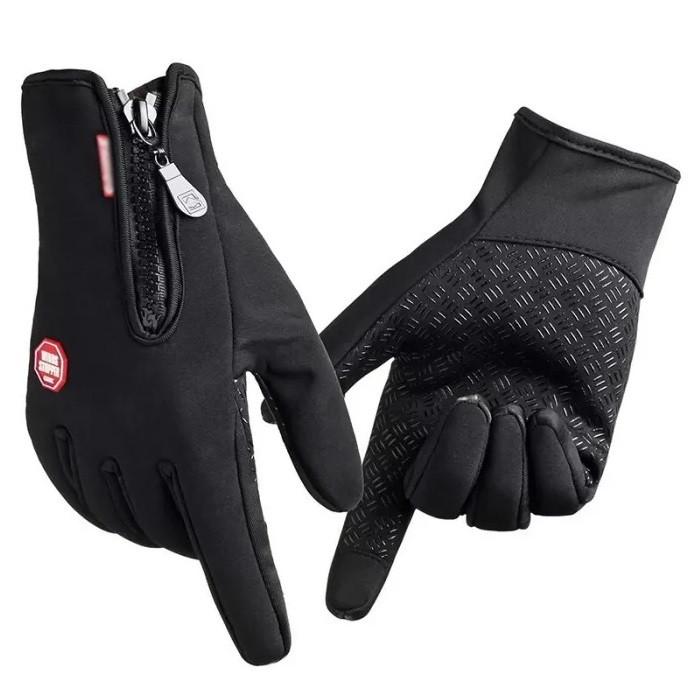 Сенсорные зимние перчатки мужские женские утепленные на флисе  вело перчатки лыжные мото