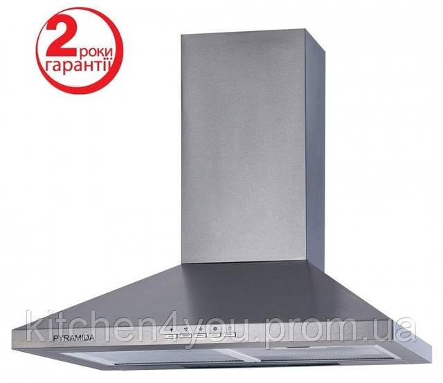 Pyramida TK-90 (900 мм.) цвет полированная нержавеющая сталь, купольная, кухонная вытяжка