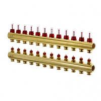 Коллектор теплого пола FHF Danfoss(кол-р 12+12 с ротаметрами) для систем напольного отопления
