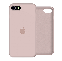 Чехол Silicone Case Full для iPhone SE2 /SE 2020 pink sand