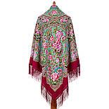 Улочки Посада 1912-,6 павлопосадский платок шерстяной  с шелковой бахромой, фото 2