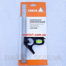 Угломер 300 мм, металлический, комбинированный YOUTA