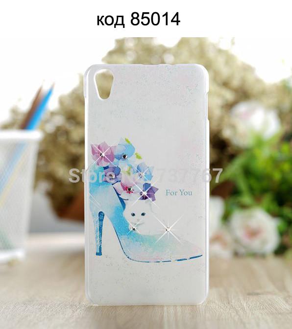 Чехол для lenovo s850 панель накладка с рисунком и со стразами белый кот