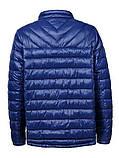 Мужская демисезонная синяя куртка в больших размерах без капюшона, фото 2