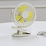 Аккумуляторный вентилятор на прищепке KONKA с подсветкой, фото 3