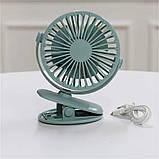 Аккумуляторный вентилятор на прищепке KONKA с подсветкой, фото 5