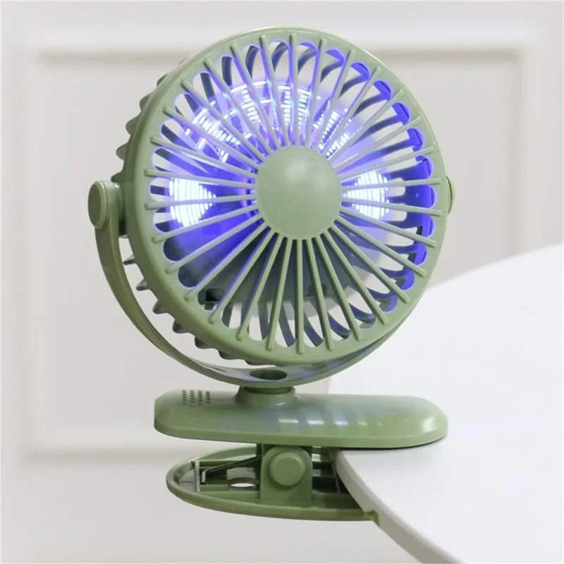 Аккумуляторный вентилятор на прищепке KONKA с подсветкой
