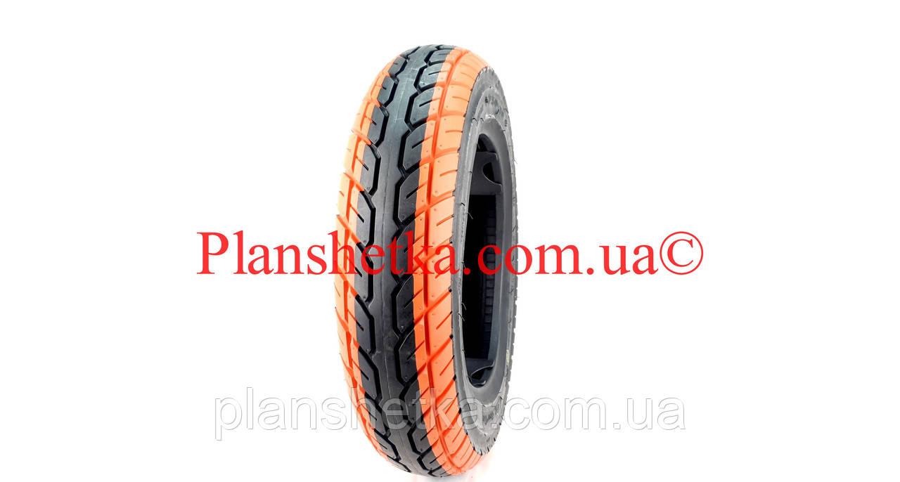 Покрышка на скутер 3.50-10 (TW) Boss оранжевая TL бескамерная, фото 2