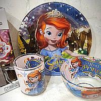 Набір дитячої скляного посуду 3 предмета з Принцеса Софія (A9551/2)