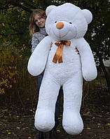 Медведь большой плюшевый 160 см, мягкий мишка подарок для девушки на день рождения, белый
