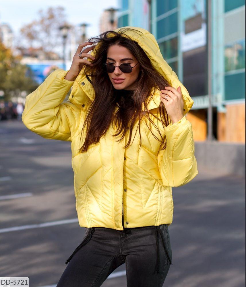 Женская зимняя куртка. Ткань - плащевка плотная аляска. Цвет- фуксия, сирень,ярко желтый,черный.