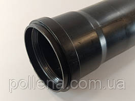 Удлинитель 2м (2000мм) диаметр 80мм конденсационный дымоход черный