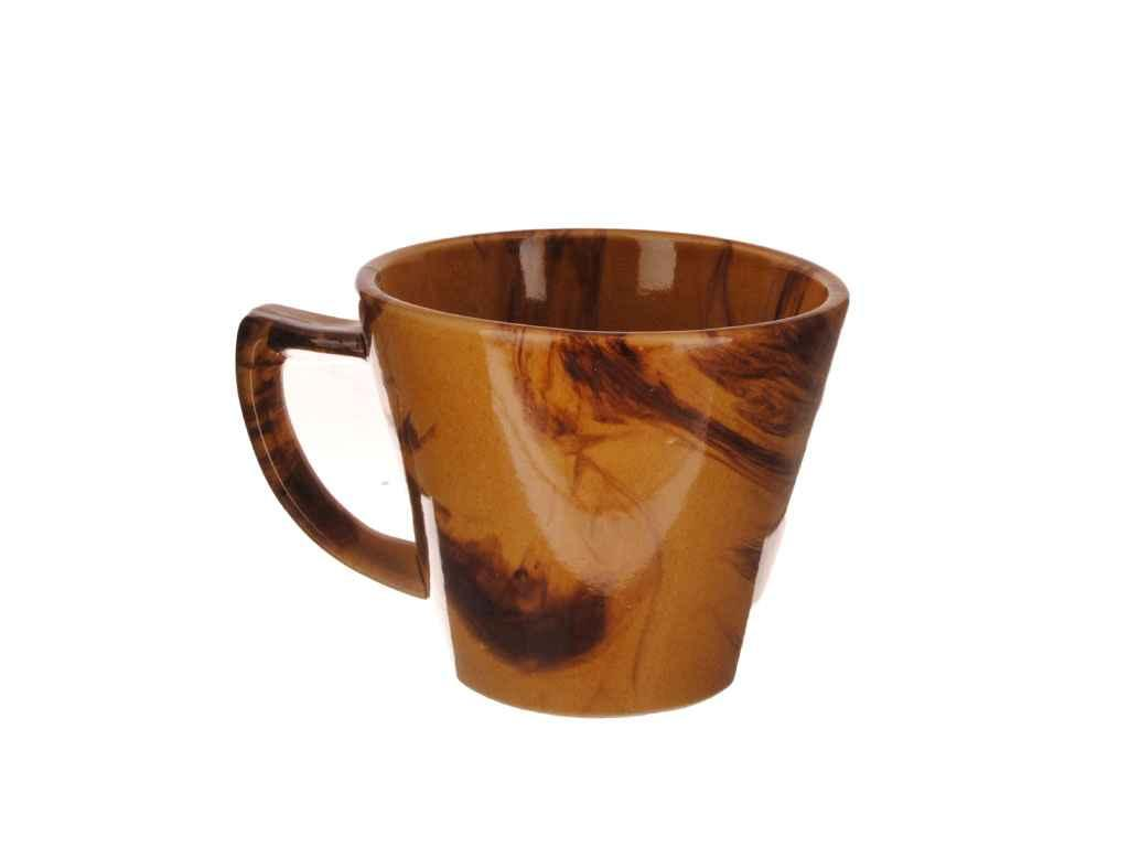Чашка 350мл Конус Веселка коричнева (6шт. в уп.) ТМПОЛИГЕНЬКО