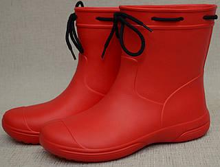 Чоботи жіночі (підліткові) червоні з EVA (розміри 37,38,41)