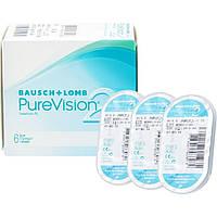 PureVision2 (3 шт.)контактные линзы месячного непрерывного ношения Самые тонкие линзы