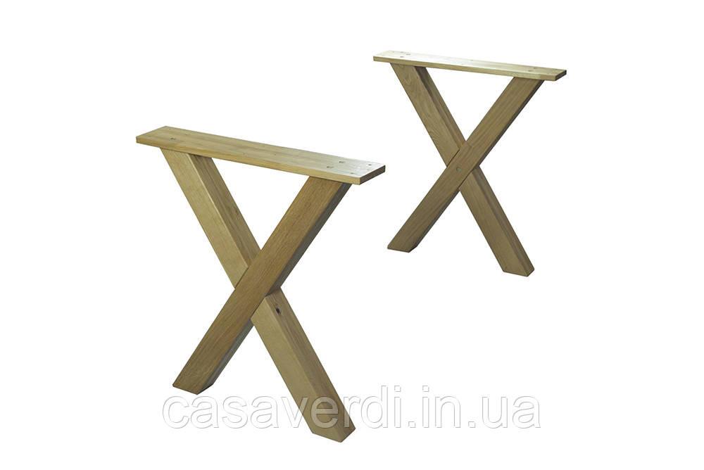 Ножки для стола Х -дуб