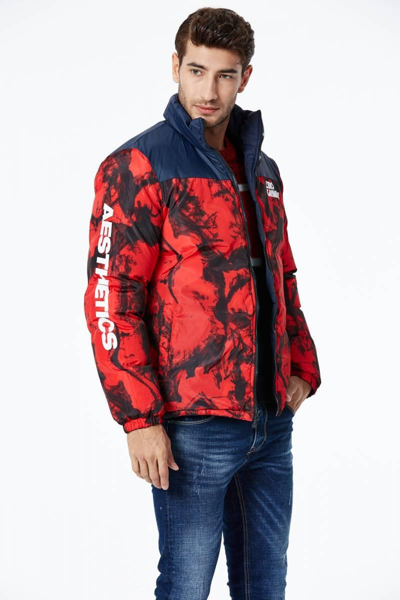 Чоловіча двостороння щільна еврозимняя куртка