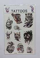 Татуировка временная, смываемая в ассортименте, фото 1