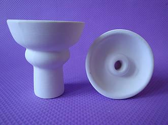 Чаша Фанел для кальяна с белой глины, дымная, чаша под кальян