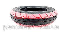 Покрышка на скутер 3.50-10 (TW) BOSS красная TL бескамерная, фото 2