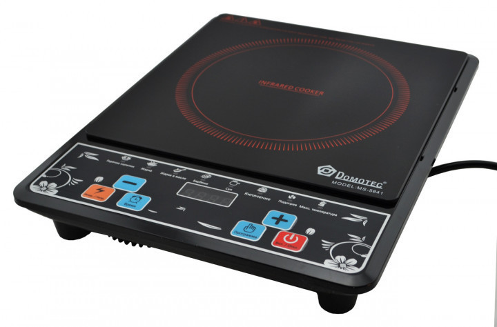 Электроплита инфракрасная Domotec MS-5841 (2000 Вт) | Плита электрическая индукционная Домотек