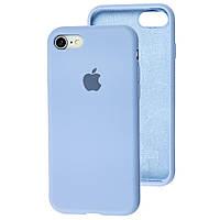 Чехол Silicone Case Full для iPhone SE2 /SE 2020 azure