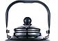 Эмалированный чайник с подвижной ручкой Benson BN-107 черный с рисунком (3.3 л), фото 3