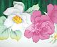 Эмалированная кастрюля с крышкой Benson BN-113 белая с цветочным декором (3.6 л)   кухонная посуда   кастрюли, фото 2