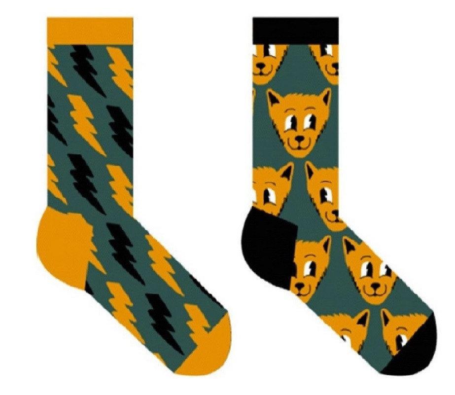 Женские носки Sammy Icon Thundercat 36-40 Желто-Серые