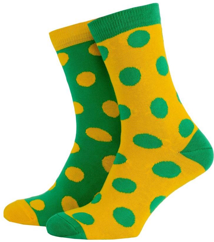 Носки с принтом женские Mushka Avo-avocado (DGY001) 36-40 Желто-зеленые
