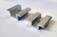 Межпанельный \ центральный прижим для крепления солнечных панелей, батарей, фотомодулей, фото 1