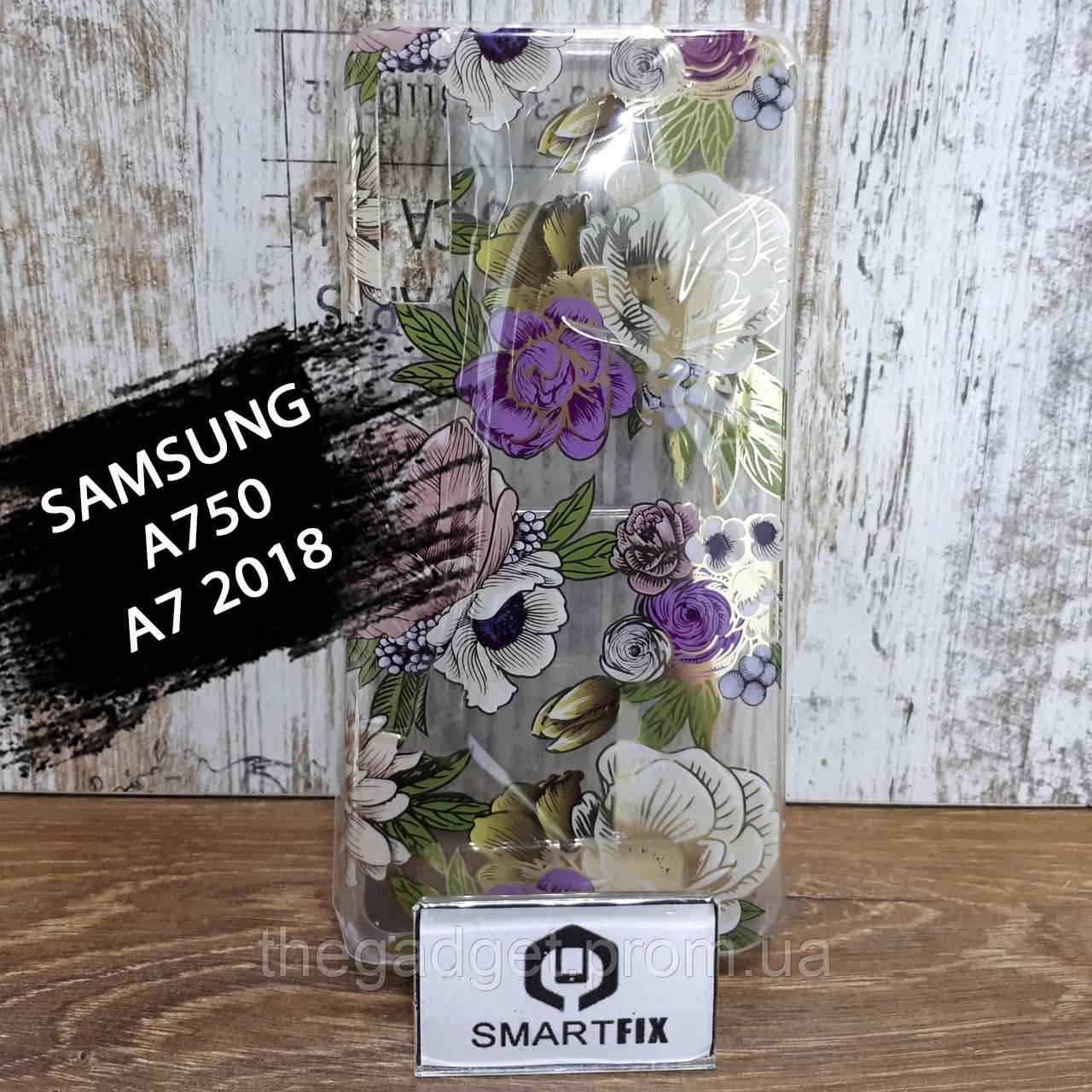 Чехол с рисунком для Samsung A7 2018 (A750) Gelius