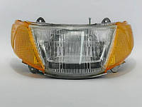 Фара  в сборе  Suzuki Lets-1 (с желтыми поворотниками), фото 1