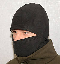 Балаклава з мікрофліса 3 в1 (шапка-шарф-балаклава) чорна (антрацит), фото 3