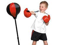 Боксерский набор Profi MS 0331, груша для бокса 20 см на стойке и перчатки, фото 3