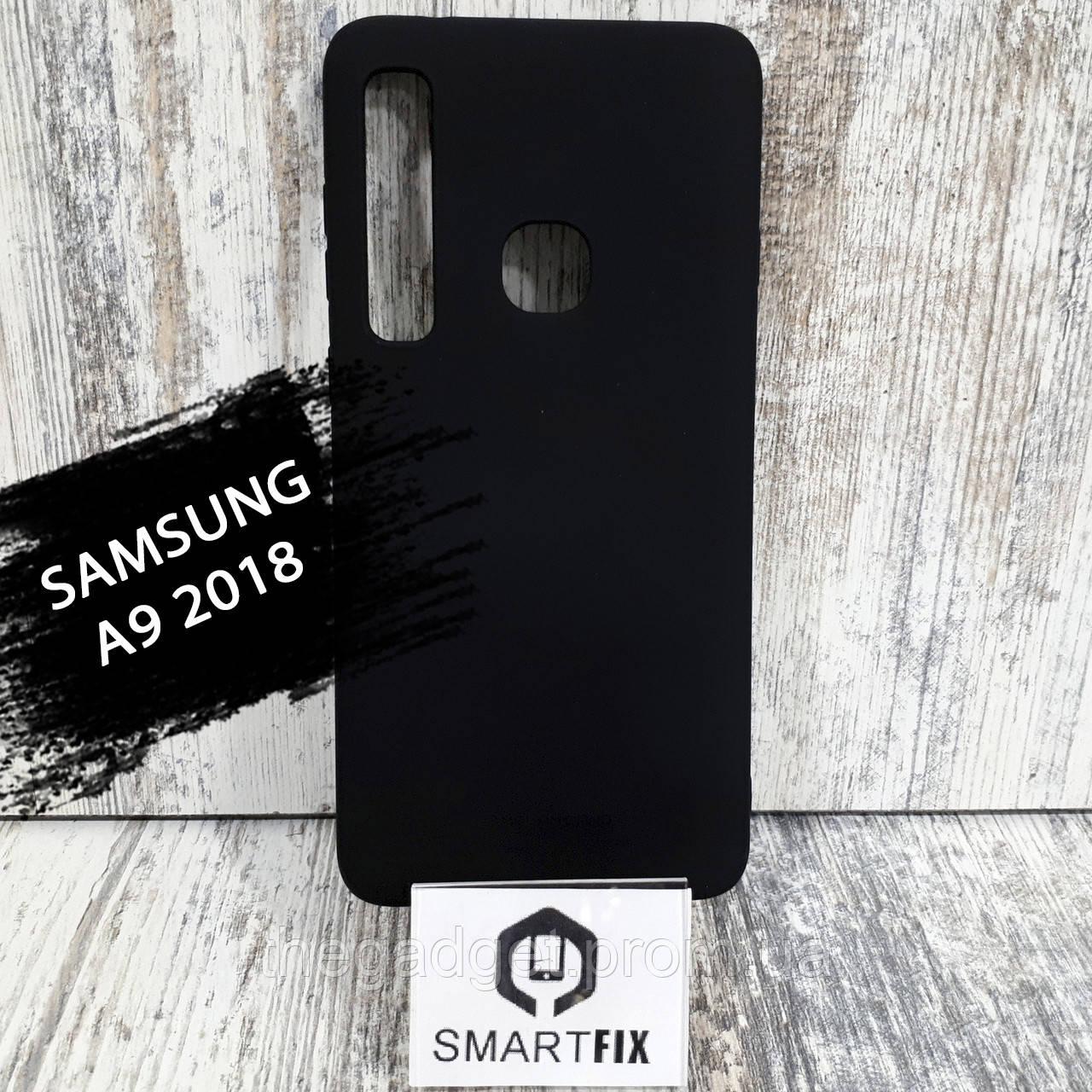 Силіконовий чохол для Samsung A9 2018 Чорний