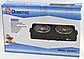 Електроплита DOMOTEC MS-5532 широкий ТЕН на 2 конфорки   плита електрична настільна Домотек, фото 4
