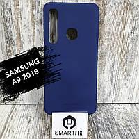 Силиконовый чехол для Samsung A9 2018 Синий, фото 1